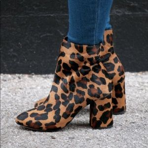 Matisse Grove Leopard Calf Hair Booties